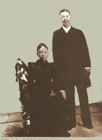 Rev. Samuel E. Ewing and Fredrika Ewing - parents of Anna 'Mama' (Ewing) Brown, Samuel 'Sam' Ewing, Willie Ewing, Th
