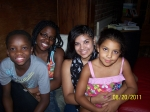 L-R: Aaron, Ayhsa, and JR's kids, Adrianna and Lauryn.