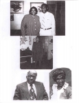 Top Photo: Claude Brown, son of Papa Brown, with his daughter, Constance; Middle Photo: Levana Grovey, 1st wife of Willi
