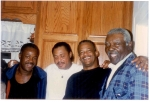 Sons of James 'Mickey' Brown with Sam Brown. Left to right: Robert, Raymond, and Maurice.