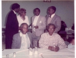L to R, top to bottom: Unknown (Black Suit), Annabelle 'Girlie' (Brown) Rice, Claude Brown, Walter Brown, Wm 'Buster