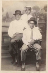 Papa Brown (Left), Thomas Ewing (Sitting), and Papa's good friend, Mr. Jackson (Standing)