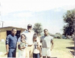 Aaron 'Mike' Brown (Marguerite Brown Brooks' Son) with his father, Alonzo Brown (coincidence),and kids (L to R) Akila