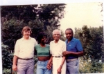 Lto R: Unknown, Freda 'Teena' Harden (Girlie's daughter), Papa Brown, and Buster Brown