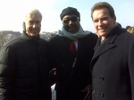 Walter Brown, Jr. with former CA Gov Gray Davis and current CA Gov Arnold Schwarzenegger at the 2008 Obama Inauguration