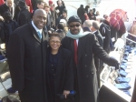 Walter Brown, Jr. with former Speaker of the California State Assembly Karen Bass and former NBA star Magic Johnson at t