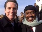 Walter Brown, Jr. with the City of San Francisco Mayor Gavin Newsome at the 2008 Obama Inauguration. (Note current City