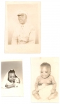 Top: Samuel Brown, Sr. (Mama Brown's son); Bottom: Sam's children, Ann Brown and Samuel, Jr. (Jan 23, 1962)
