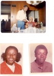 Top: Walter Brown, Sr. and his dad,  William 'Papa' Brown; Bottom: Walter's children, Sheila (age 15) and Walter, Jr.
