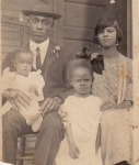 Willie Ewing, Sr., his wife, Lavana, and daughters Hulene (eldest, turned 90 in 2012) and Mary (lost in 1997).