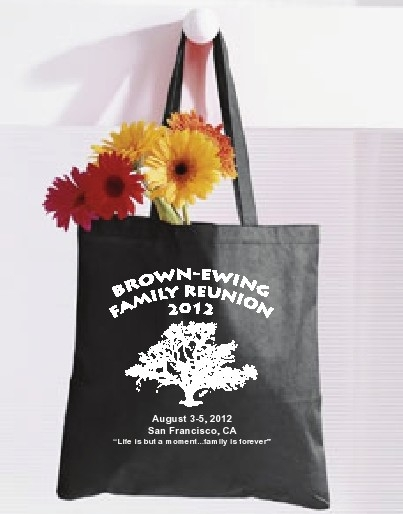 2012 reunion canvass tote bags